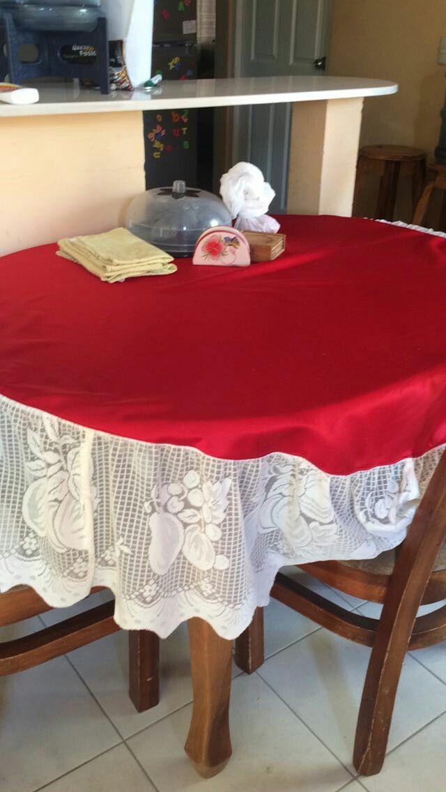 Martha silva confecciono mantel.Tel 0050582856035