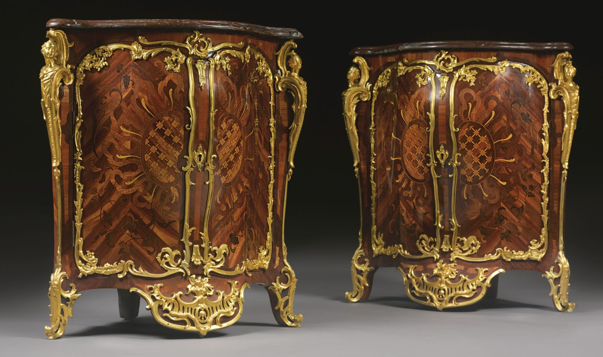 Chair Styles And Names: A Pair Of Louis XV Ormolu-mounted Kingwood, Tulipwood And