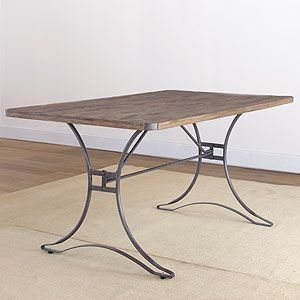 Jackson Rectangular Table With Metal Base Features The Sturdy Appeal Of Vintage Industrial Furniture Popular In