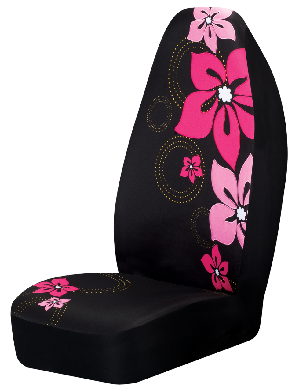 hot pink flower car seat cover girly car accessory car pinterest seat covers car seats. Black Bedroom Furniture Sets. Home Design Ideas