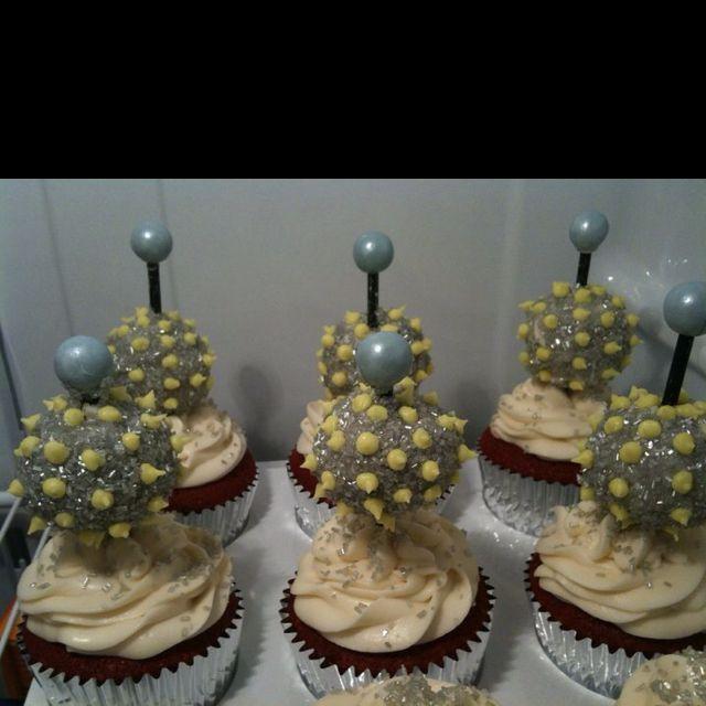 New years eve ball drop cupcakes | Cupcake cakes, Cupcakes ...