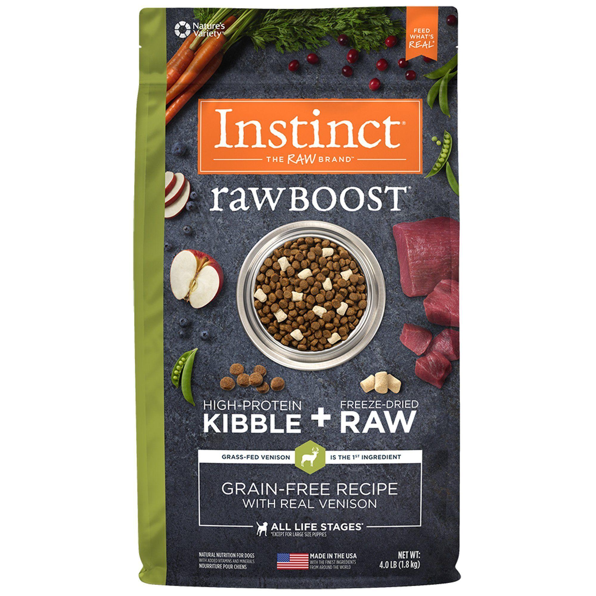 Instinct Raw Boost Grain Free Recipe with Real Venison