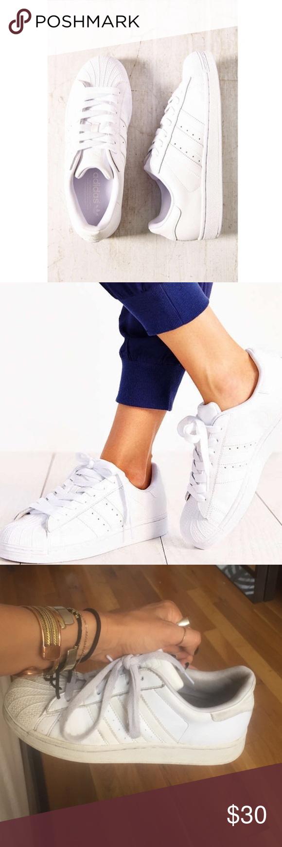 Originals Adidas Superstars womens size 7. mens size 5. decently worn but still look good! make an offer! Adidas Shoes Sneakers