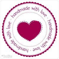Download Handmade with Love... Stempel   Geschenketiketten ...