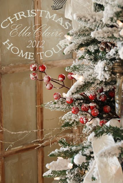 Christmas Home Tour~ Ella Claire vintage inspired Christmas Decor, handmade and DIY
