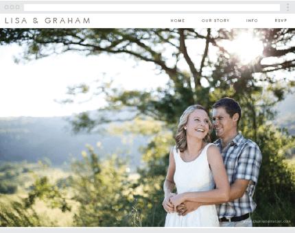 Simple Clean Wedding Website. FREE at www.victoriaandrose.com ...