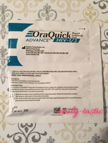 OraQuick+Advance+HIV-1/2+LOT+OF+10+TESTS!+Rapid+Antibody+