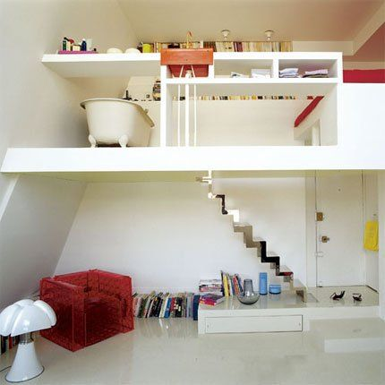 30 m2, un appartement tout du0027une pièce Small spaces, Small space