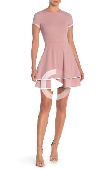 Love...Ady - Contrast Trim Cap Sleeve Fit & Flare Dress is now 0 - 25% off. Free Shipping on orders...