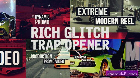 Videohive Rich Glitch Trap Opener - After Effects Templates   after
