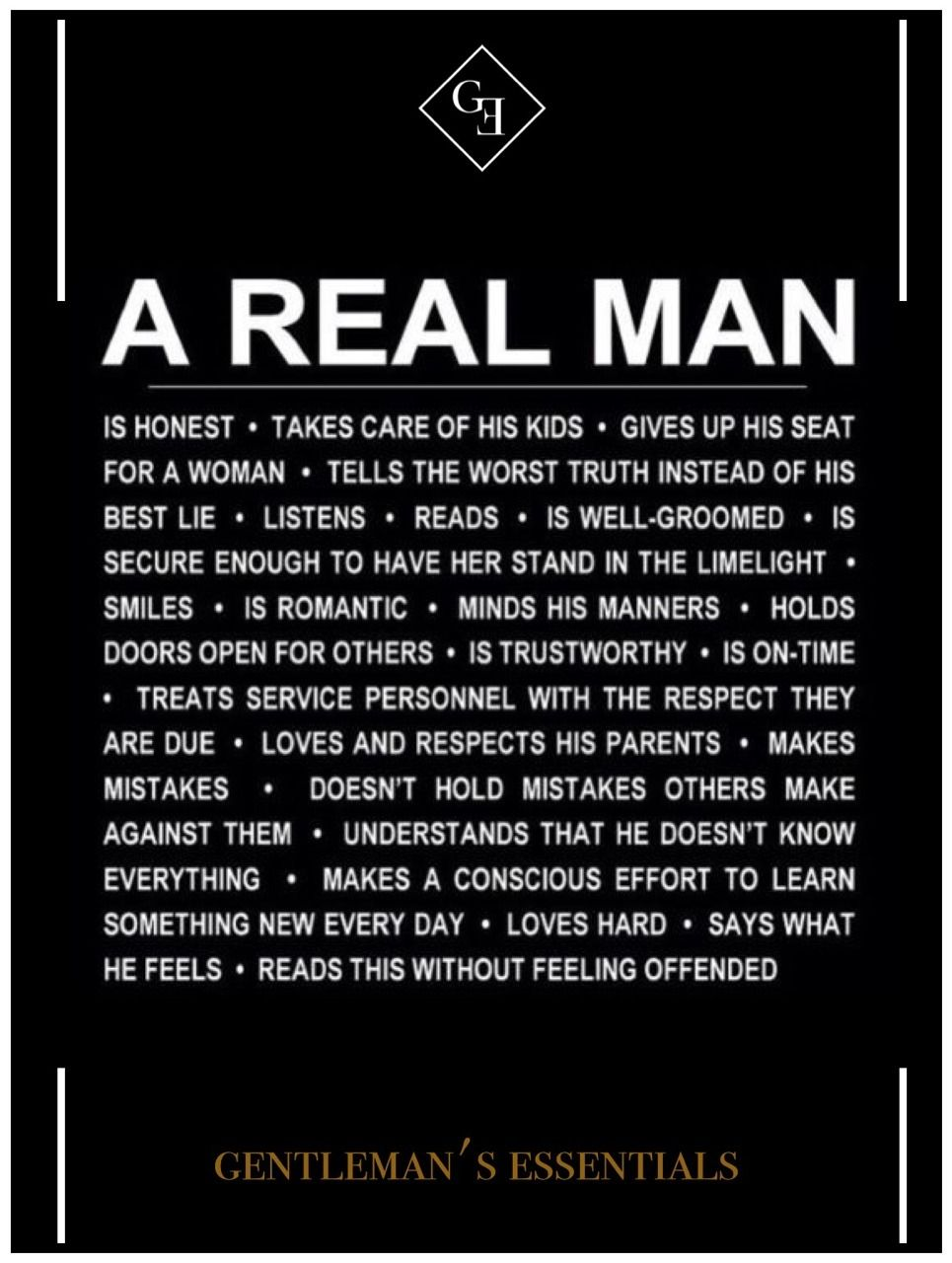 What Is Real Man Quotes