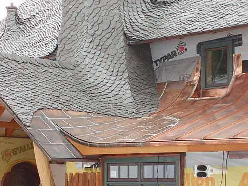 Slate And Copper Roof Roof Design Metal Roof Construction Beautiful Roofs