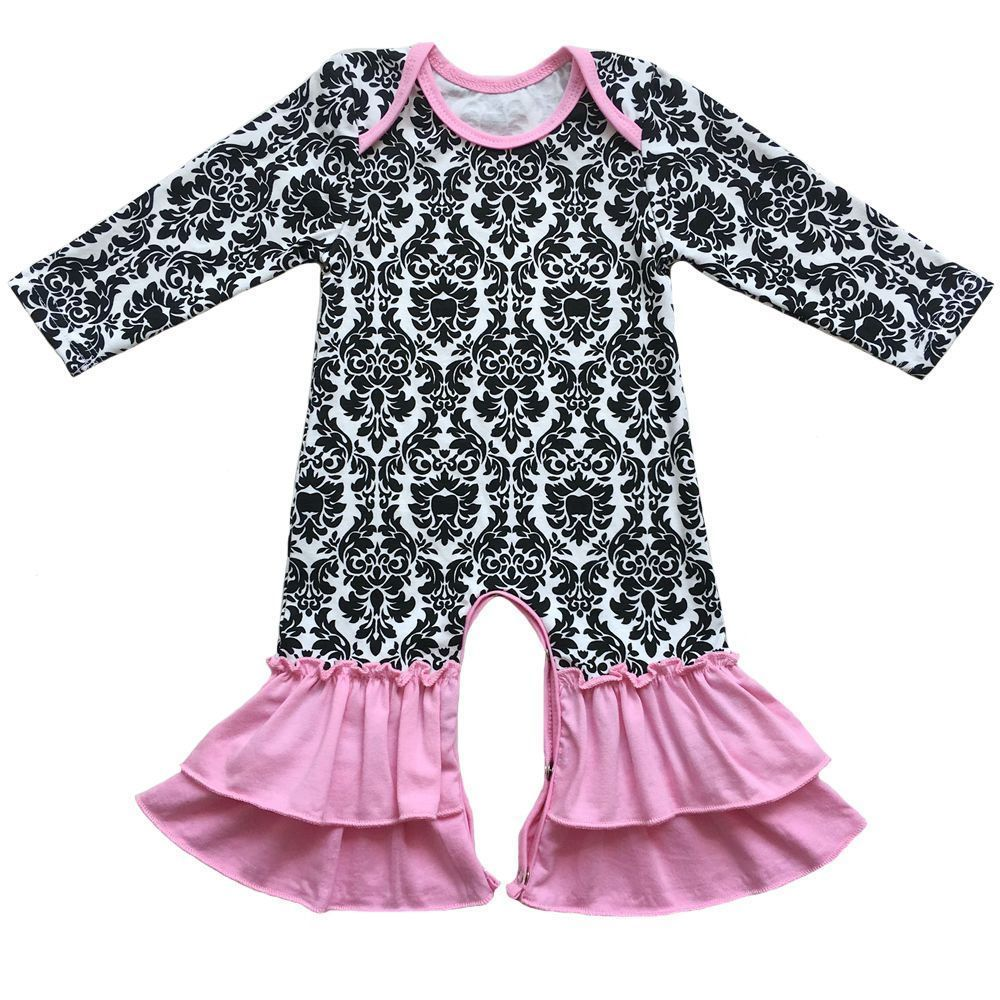4a2f5182456 Matching Baby Twin Boys Girls New Year Ruffled Bottoms Romper Pajamas  Outfit  baby  twin  ruffled  matching  romper