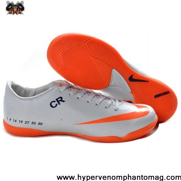 Nike Mercurial Victory V CR7 IC Stiefel Schwarz Weiß Orange