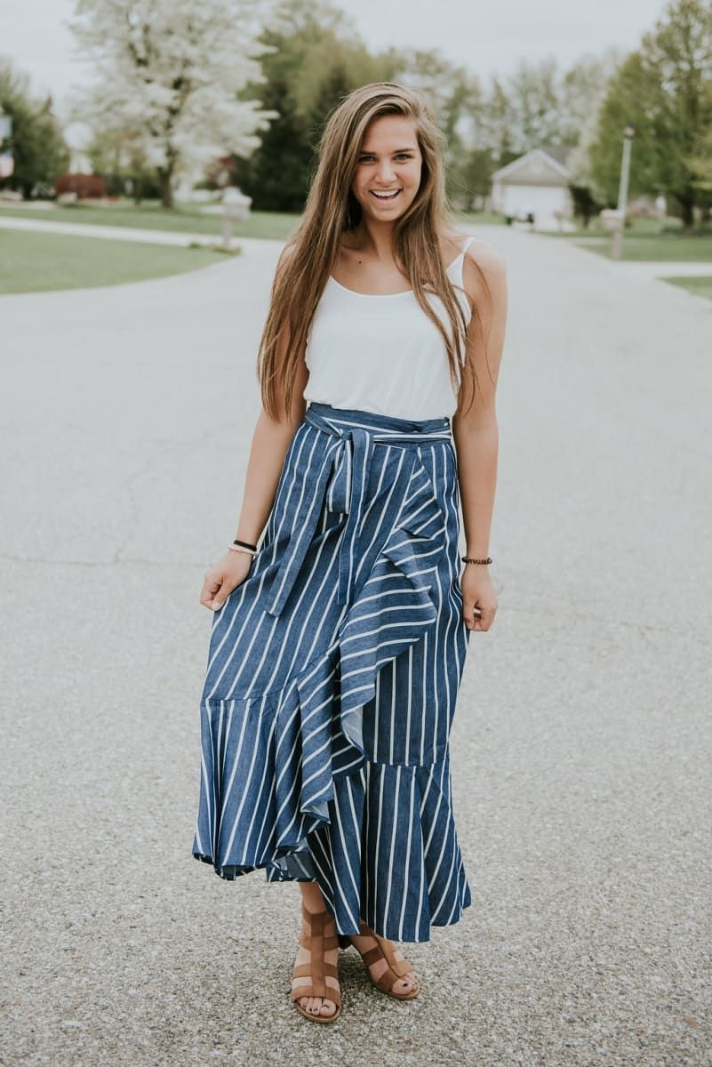 819d9ba14b Chambray Maxi Skirt | 2 Colors in 2019 | Modest Every Day Fashion ...