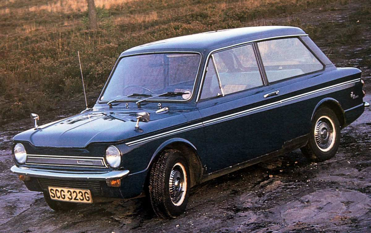family car of the time - hillman imp