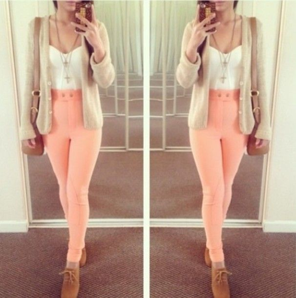 Colorful High Waisted Jeans - Xtellar Jeans