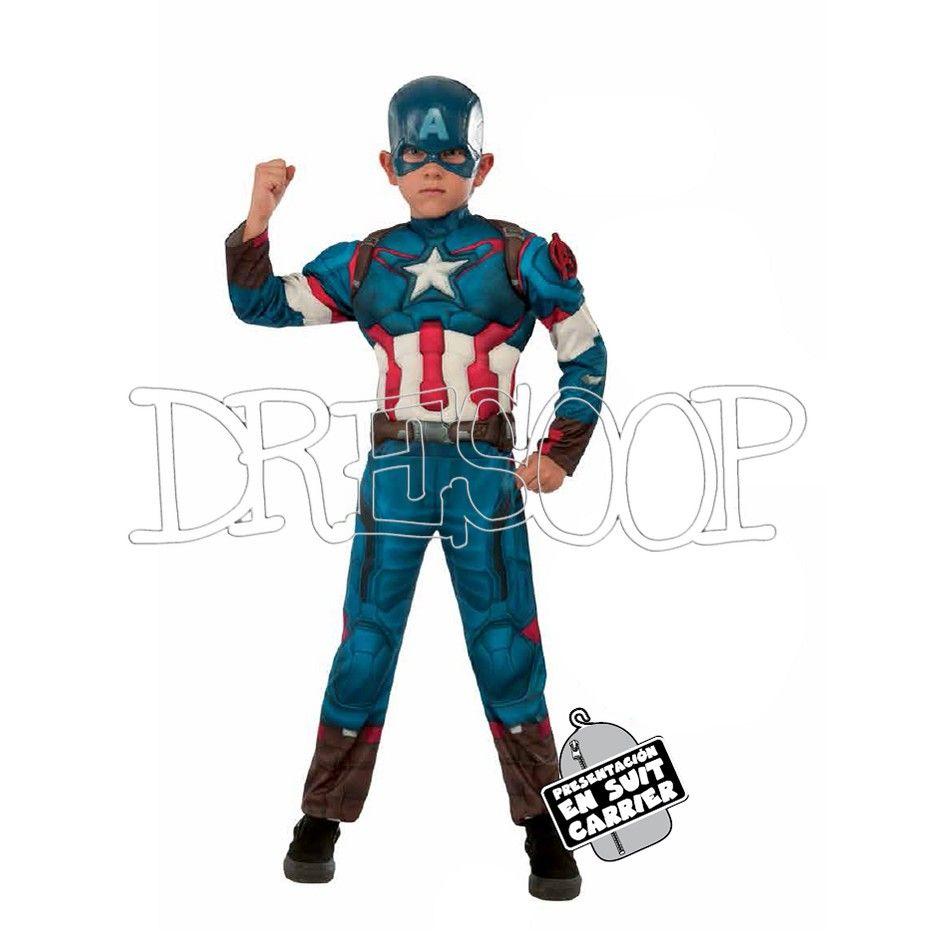 244a4d9a93a Disfraz Capitán América deluxe - Dresoop.es