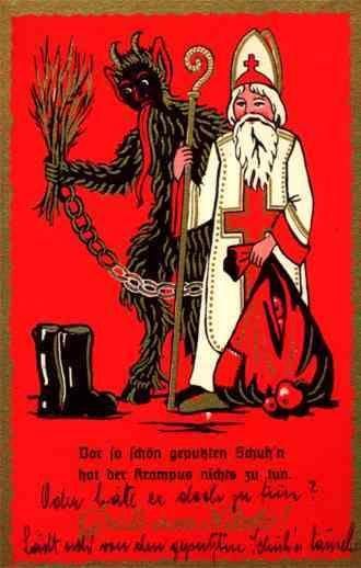 Sankt Nikolaus Und Krampus