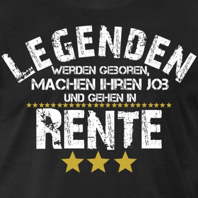 Legende Pension Rente Rentner Geschenk Ruhestand Manner Premium