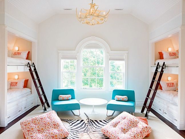 20 Bunk Beds So Incredible You Ll Almost Wish You Had To Share A Room Architecture Design Bunk Beds Built In Bunk Bed Rooms Cool Kids Rooms