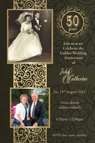 50th wedding anniversary invitations golden marriage bodas de 50th anniversary invitations 50th wedding anniversary invitation 50th wedding anniversary invitations 60th wedding stopboris Gallery