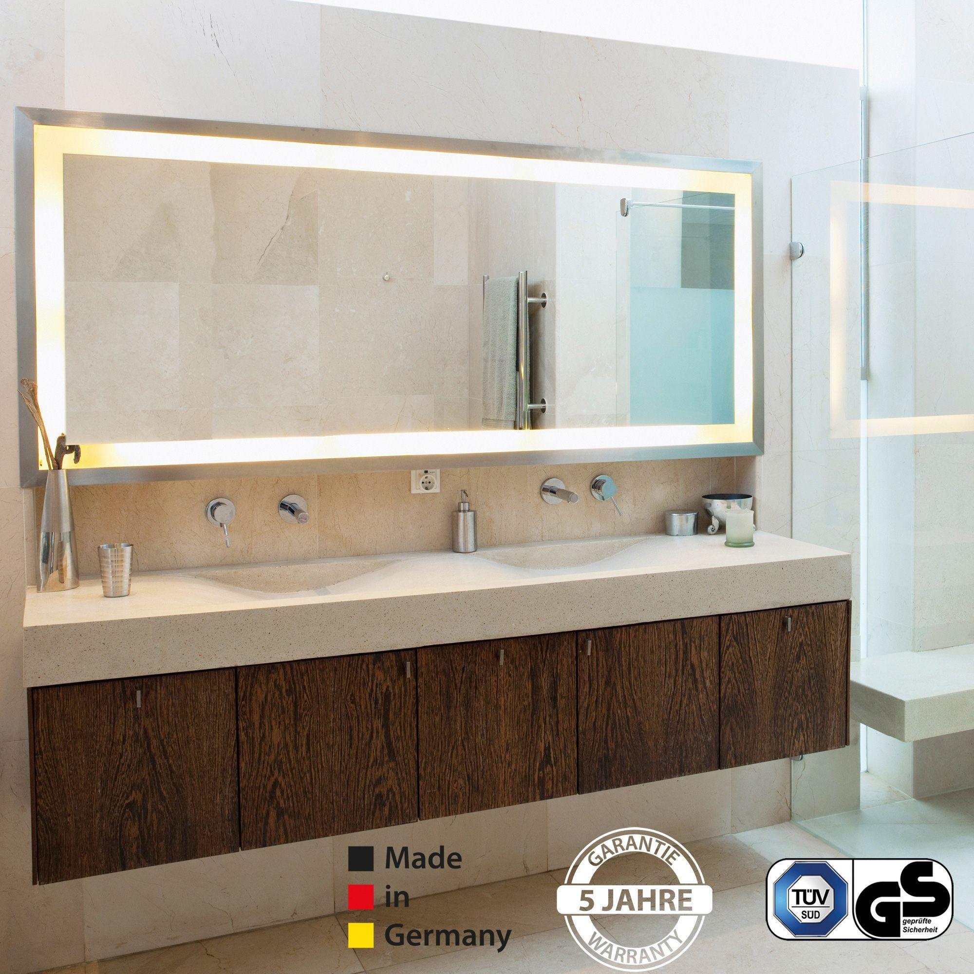 7 Neue Infrarot Spiegelheizung Mit Led Beleuchtung Manketech Gmbh Eintagamsee Bathroom Mirror Lighted Bathroom Mirror Bathroom Lighting