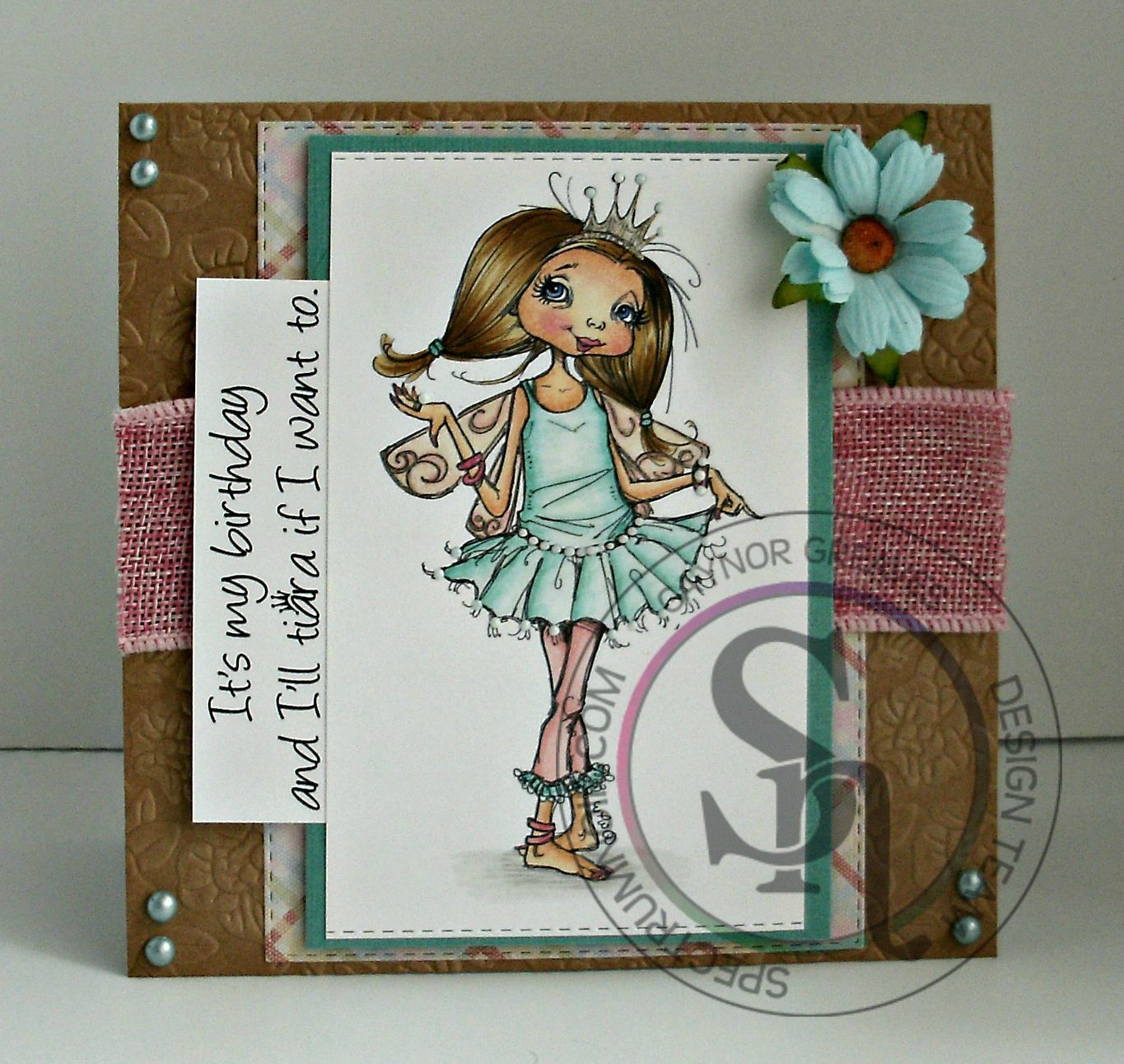Fs1 On Spectrum >> Designed by Gaynor Greaves - Tiara digi stamp from Mo Manning. Spectrum Noir pens and pencils ...