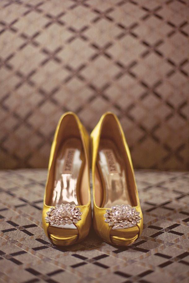 Marston House Wedding | Yellow wedding shoes, Gold wedding ...