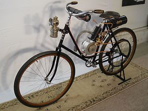 Antique Steffey Motor Bike With Images Powered Bicycle Gas