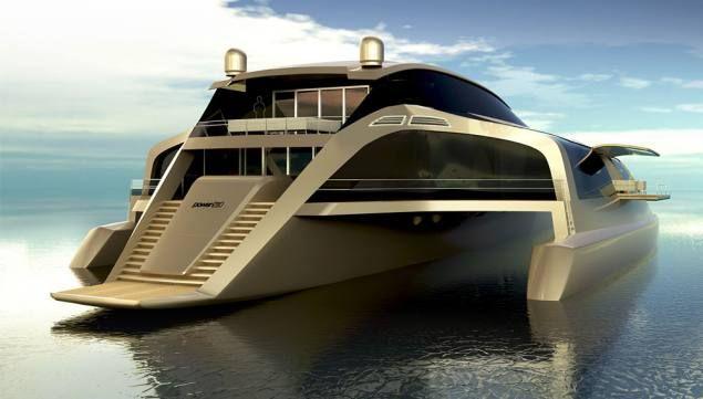 Teuerste yacht der welt gold  Five Innovative Trimaran Yacht Concepts, Sunreef 210 Power ...