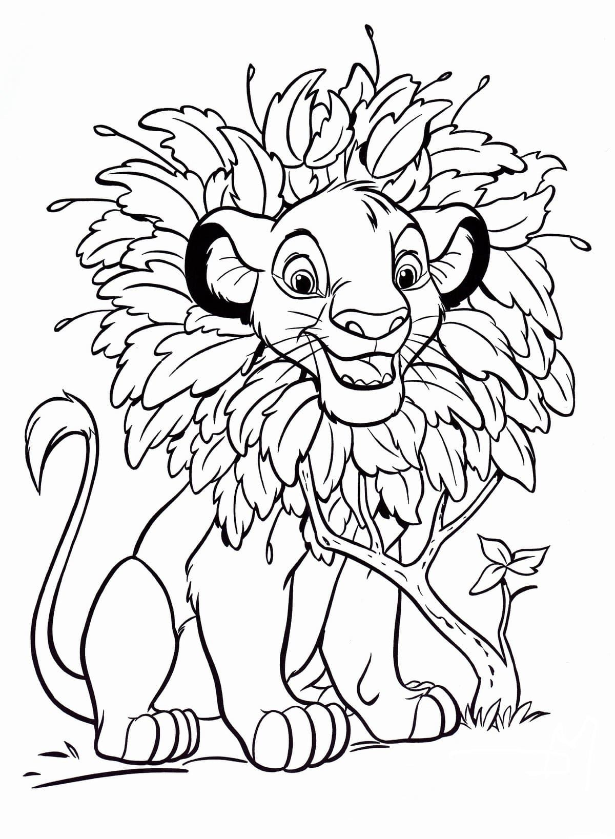 61 Malvorlage König Der Löwen - Malvorlagen für Kinder zum