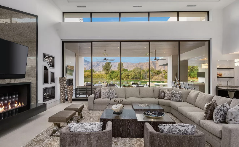10 Million Contemporary New Build In La Quinta California Homes Of The Rich Luxury Living Room Decor Fancy Living Rooms Mansion Living Room