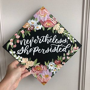 Handpainted Custom Graduation Cap, Graduation Cap Topper, Personalized, Grad Gift Graduate, Grad Cap