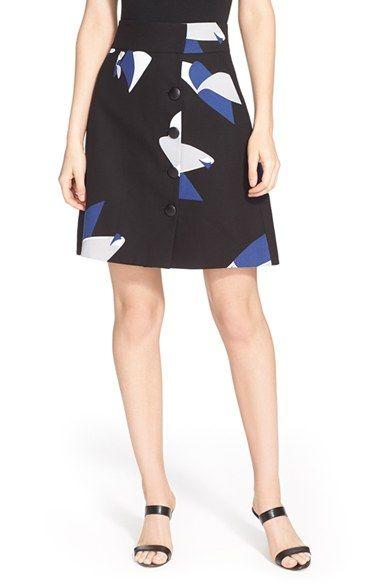 271dc236de TIBI Floral Print Button Front A-Line Skirt. #tibi #cloth # | Tibi ...