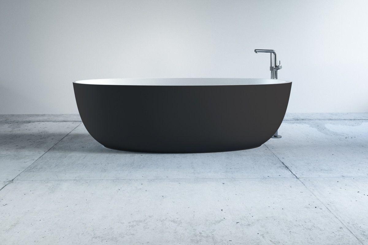Freistehende Mineralguss Badewanne Tula In Dunkelgrau 170x70x50 Cm Badewanne Wanne Und Freistehende Badewanne