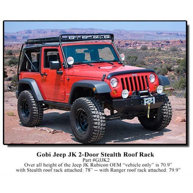 Gobi Jeep Wrangler Jk 2 Door Stealth Roof Rack Jeep Jk Jeep