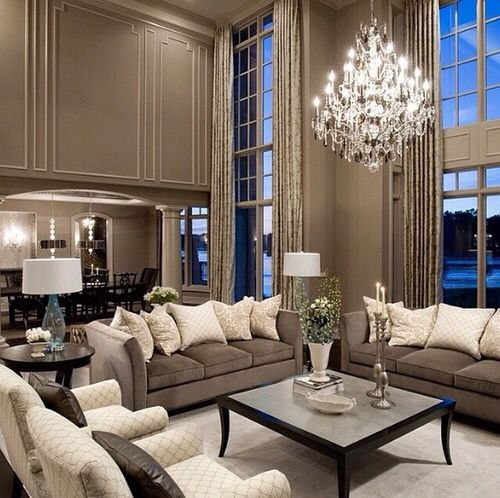 38 Elegant Living Rooms That Are Brilliantly Designed: Lovely Tones And Open Space. …