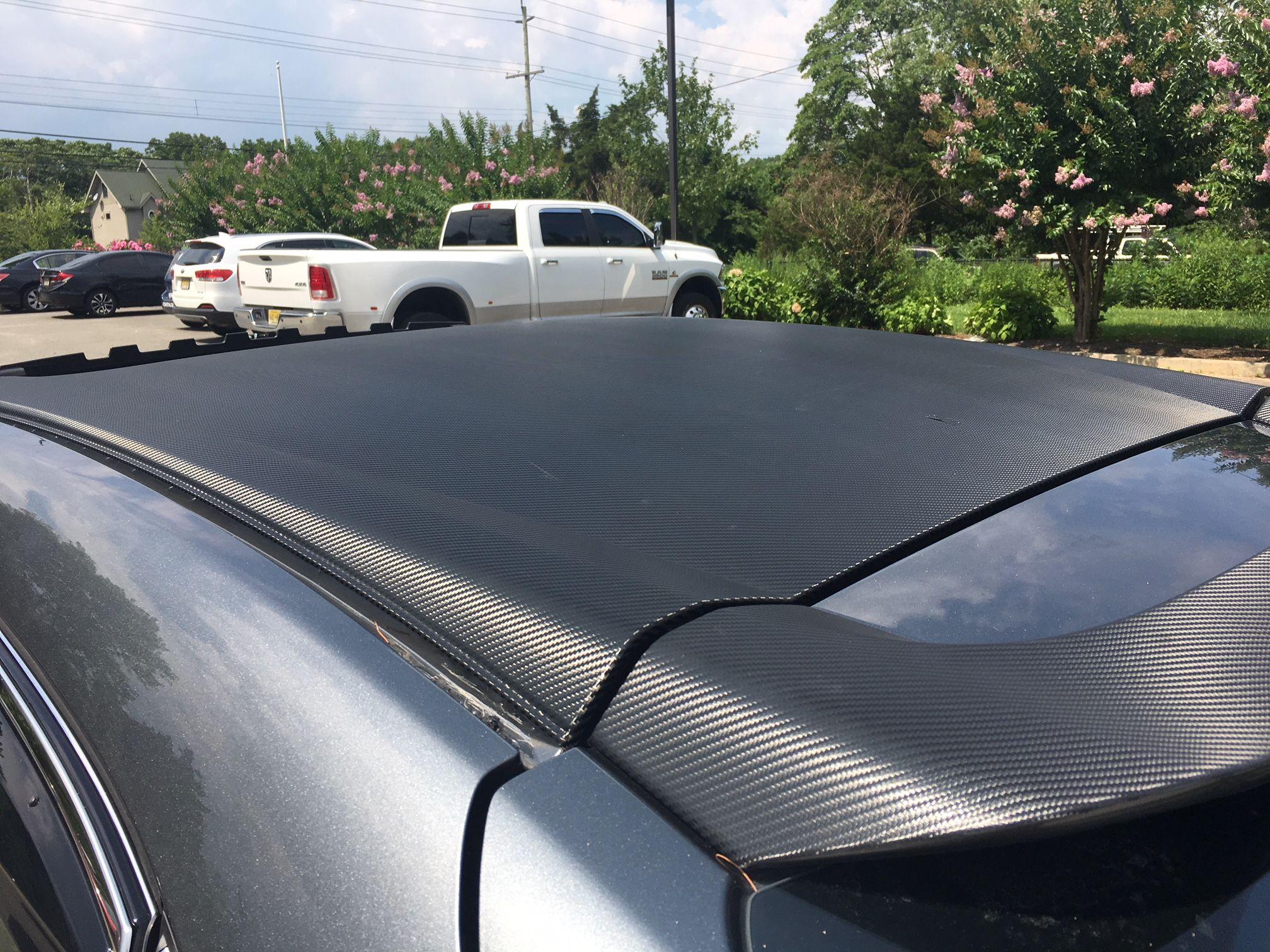 Honda Carbon Fiber Roof Wrap   Vehicle Graphics   New honda