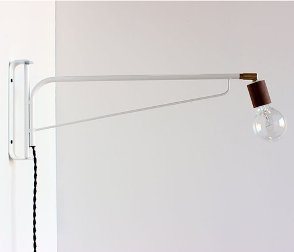 Wall light industrial and cool use as bedside lighting