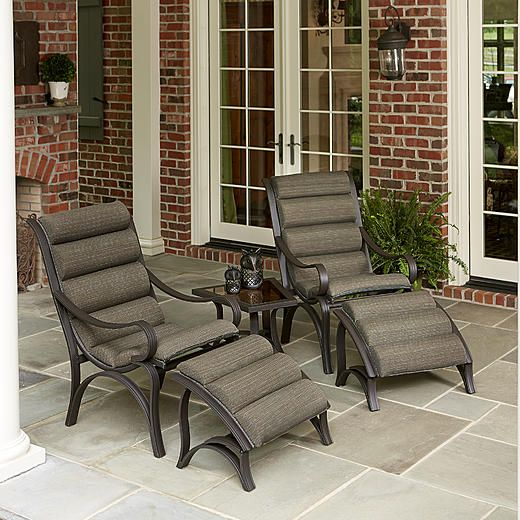Jaclyn Smith Patio Furniture.Jaclyn Smith Marion 5pc Seating Set 4 Outdoor Furniture Jaclyn