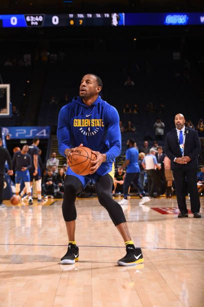 Andre Iguodala Of The Golden State Warriors Warms Up Before The Game