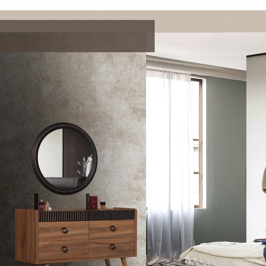 Soon Bedroom Modern Pay To Reserve Your Bedroom قريبا غرفة نوم صناعة تركيا ذو جودة عالية من احدى خيا Round Mirror Bathroom Bathroom Mirror Home
