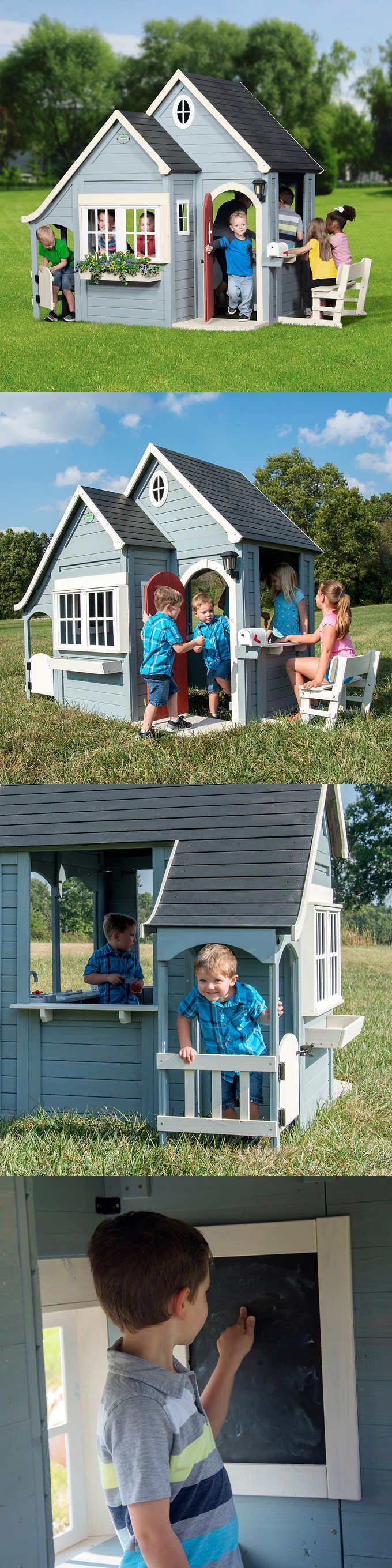Permanent Playhouses 145995: Backyard Discovery Spring ...