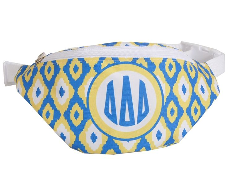 Brothers and Sisters' Greek Store - Delta Delta Delta Tri- Delta Sorority Fanny Pack, $14.99 (http://www.brothersandsistersgreekstore.com/delta-delta-delta-tri-delta-sorority-fanny-pack/)