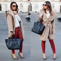 Mariann Mezo Sidibe - Zara Coat, Céline Bag - Touch of Burgundy