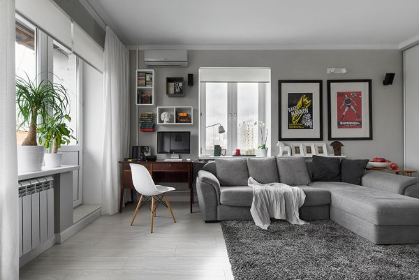Bachelor Pad Featuring A Modern Décor With Accent Details From The 60s