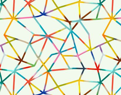 Prism Pattern As Part Of A Project S Visual Identity For The