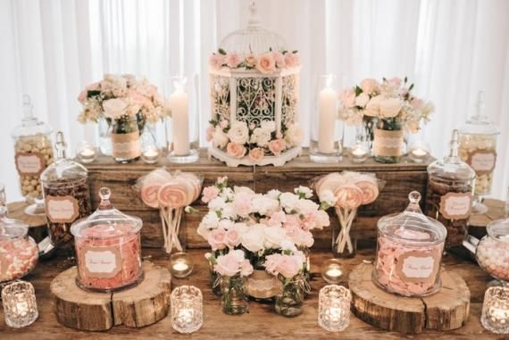 Candy Station At The Engagement Candy Flowers Party Ideas