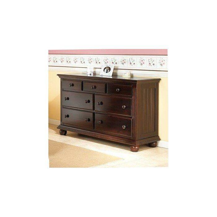 Vista Elite 7 Drawer Double Dresser Double Dresser Drawers Dresser Drawers